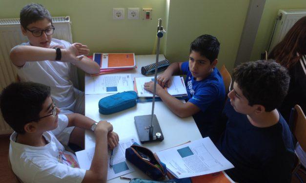 Συμμετοχή της Α' Γυμνασίου σε εργαστηριακή άσκηση