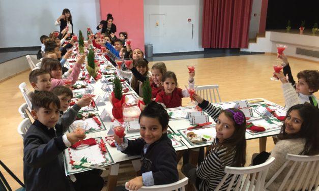 Η Β' Δημοτικού σε «γεύμα χριστουγεννιάτικο»