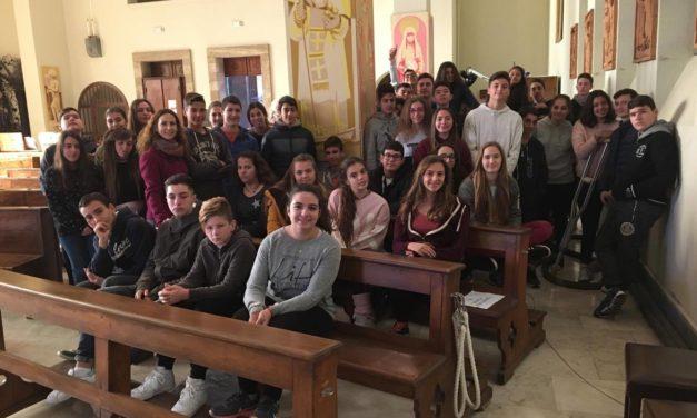 ΕπίσκεψητηςΓ' Γυμνασίου στονΚαθολικό Ναό Αγίου Φραγκίσκου