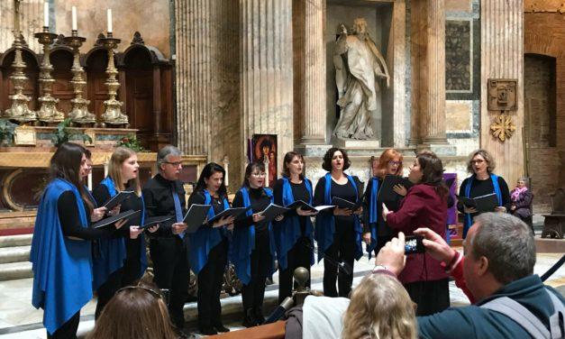 Εξαιρετική Εμφάνιση της χορωδίας «ΡΟΔΙΩΝ ΕΜΜΕΛΕΙΑ» στο 7ο Διεθνές Φεστιβάλ χορωδιών στη Ρώμη