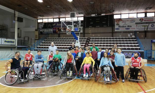 Η Ε' Δημοτικού παίζει μπάσκετ με τον Γ.Σ. Δωδεκάνησος