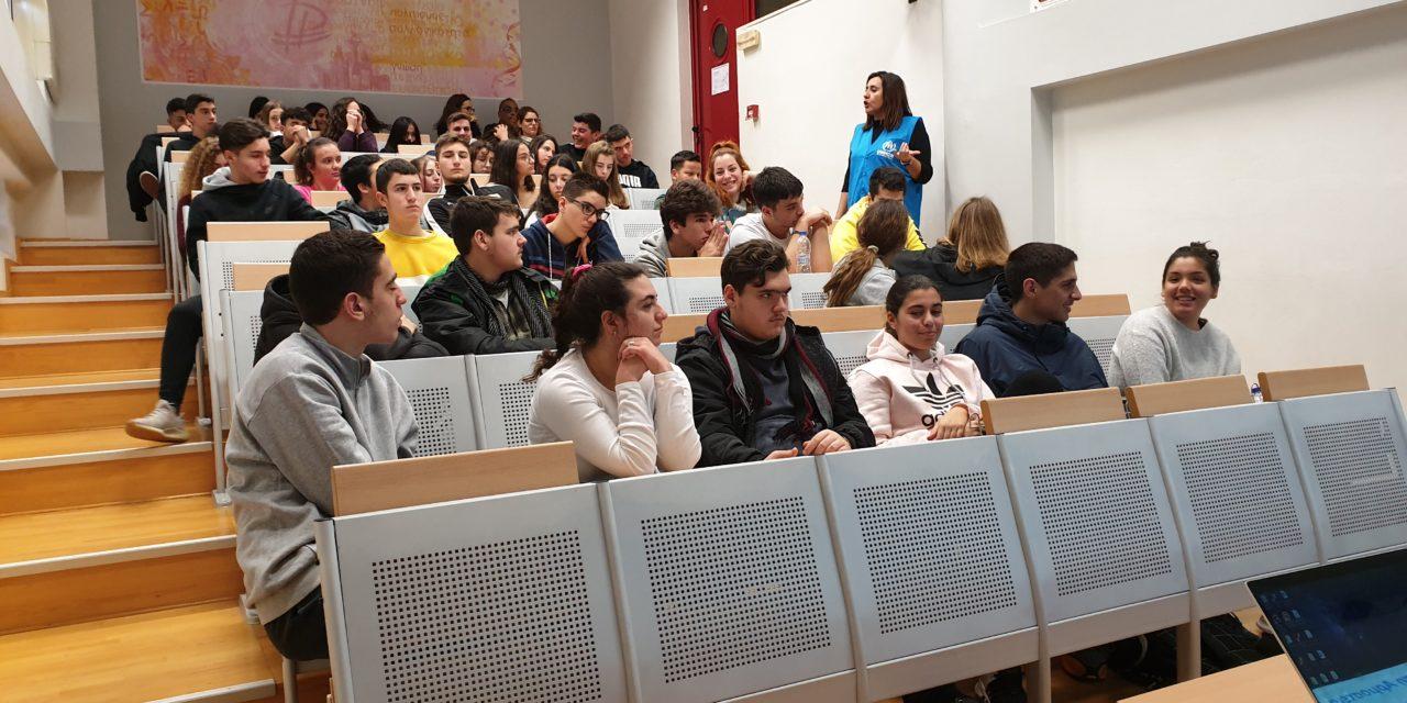 Ομιλία της κ. Γιαννίκη σε μαθητές των Εκπαιδευτηρίων «ΡΟΔΙΩΝ ΠΑΙΔΕΙΑ» σχετικά με το προσφυγικό ζήτημα